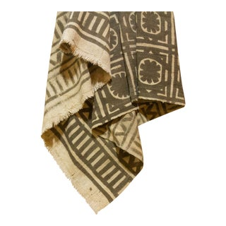 Brown African Mud Cloth For Sale