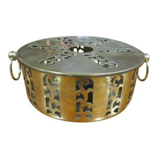Vintage 1960s Mid-Century Modern Brass Food Warmer For Sale