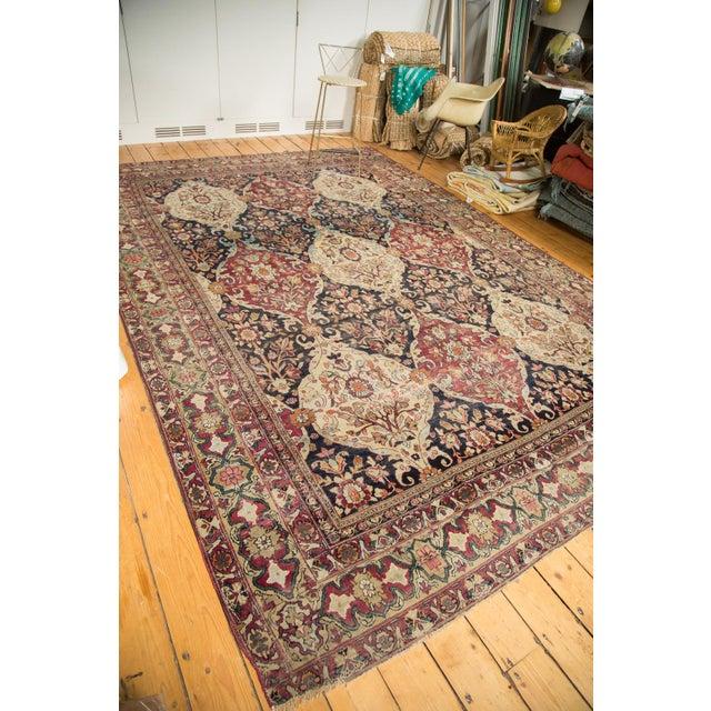 """Antique Lavar Kerman Carpet - 8'6"""" X 11'10"""" For Sale - Image 4 of 10"""