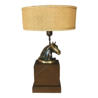 1960s Brass Horse Table Lamp