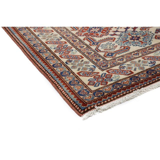 """New Traditional Hand Knotted Area Rug - 4'4"""" x 6'2"""" - Image 2 of 3"""