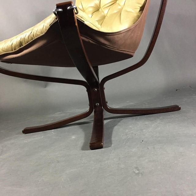 """Yellow Sigurd Ressell Yellow """"Falcon"""" Low Back Lounge Chair, 1970s For Sale - Image 8 of 12"""