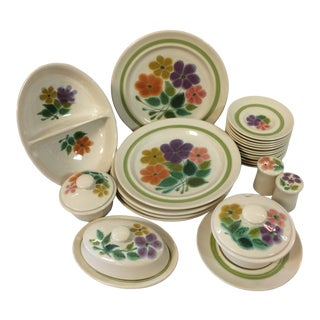 """1970's Franciscan Earthenware """"Floral"""" - 27 Pieces For Sale"""