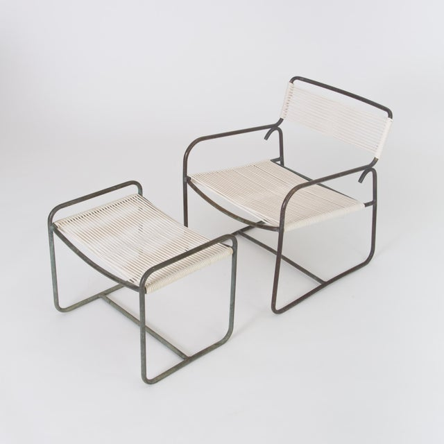 Brown Jordan Single Walter Lamb Patio Lounge Chair and Ottoman Set For Sale - Image 4 of 13