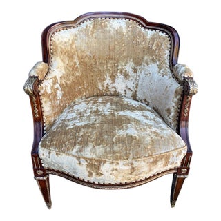 19th Century French Bronze Mounted Barrel Chair For Sale