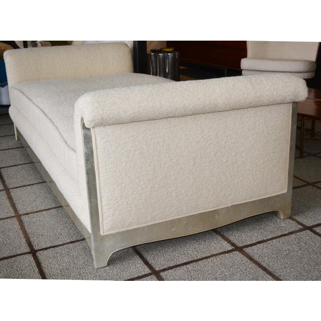 Art Deco Modern Silver Leafed Daybed For Sale In Palm Springs - Image 6 of 7