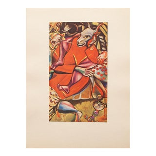 "1947 Marc Chagall ""Homage to the Fiancee"", Original Period Lithograph For Sale"