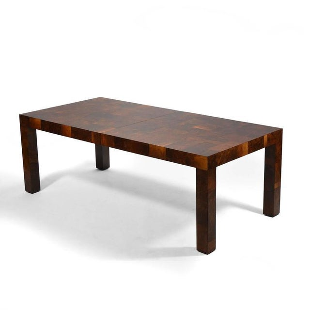 1960s Paul Evans Parsons Table in Burl Patchwork For Sale - Image 5 of 9