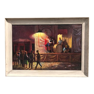 Palmer Schoppe the Last Fight Oil on Canvas For Sale