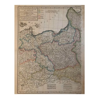 Late 18th Century Antique Map of Poland For Sale