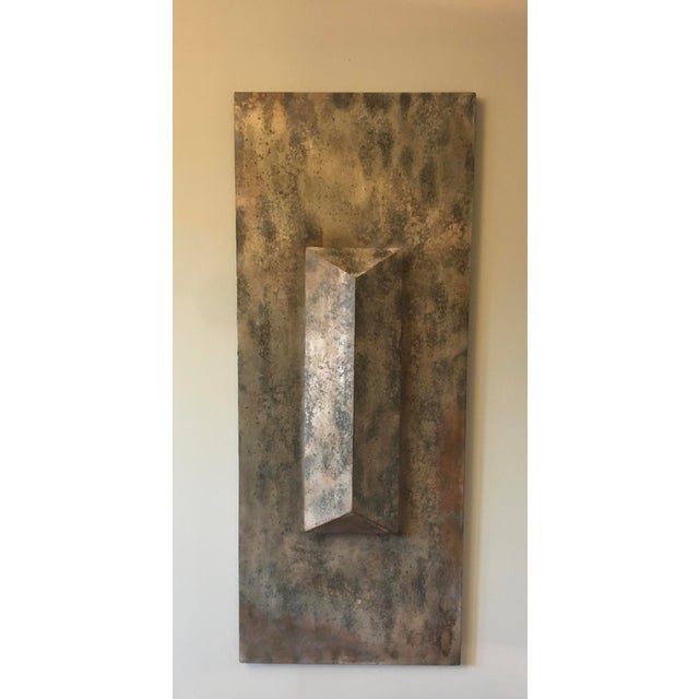 Metallic Modern Wall Sculpture For Sale - Image 4 of 4