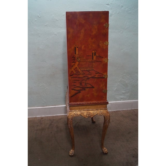 Maitland Smith Hand-Painted Chinoiserie Cabinet - Image 3 of 10