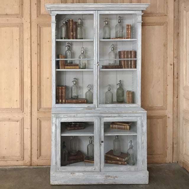 Antique Swedish Scraped Painted Bookcase For Sale - Image 11 of 13