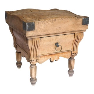 French Butcher Table with One-Drawer, circa 1850 For Sale