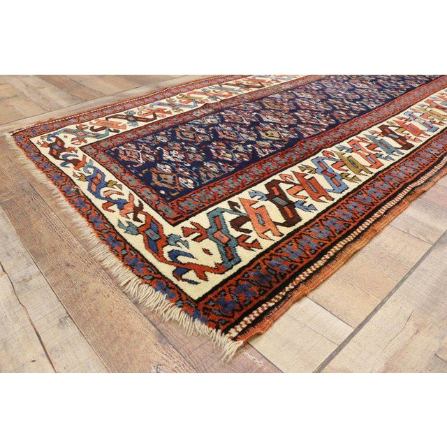 Late 19th Century 19th Century Persian Kazak Tribal Hallway Runner - 3′4″ × 8′10″ For Sale - Image 5 of 9