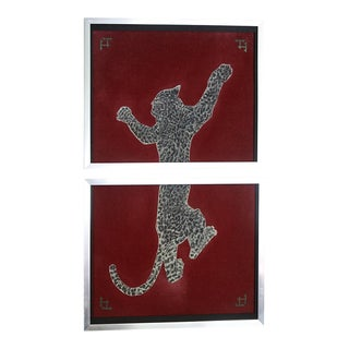 Leopard Art on Concrete by Vincent Tomczyk For Sale