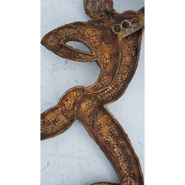 Overscale Brutalist Abstract Acrobats Bronze Wall Sculptures a Pair. - Image 11 of 11