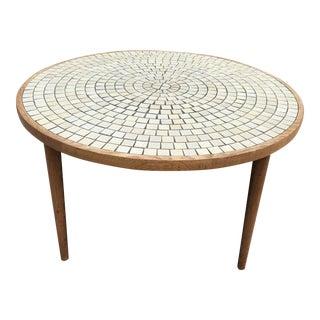 Jane Gordon Martz Ceramic Tile Oak Coffee Table Marshall Studios For Sale