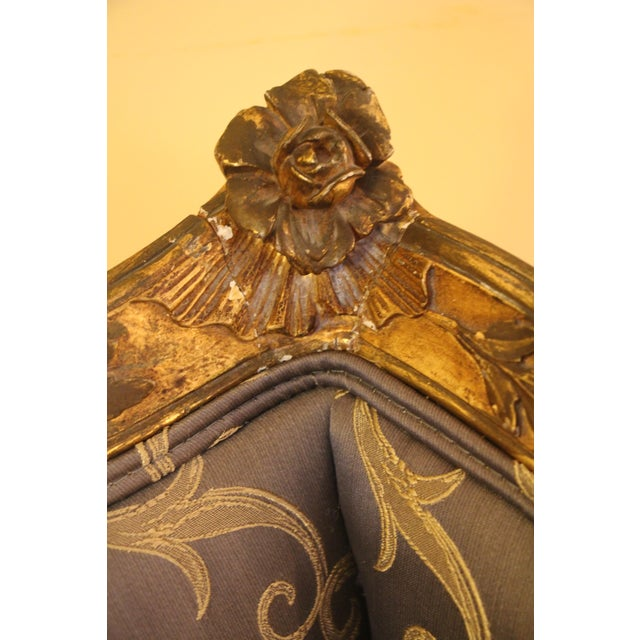 Giltwood Rococo Style Bergère Chair For Sale - Image 7 of 7