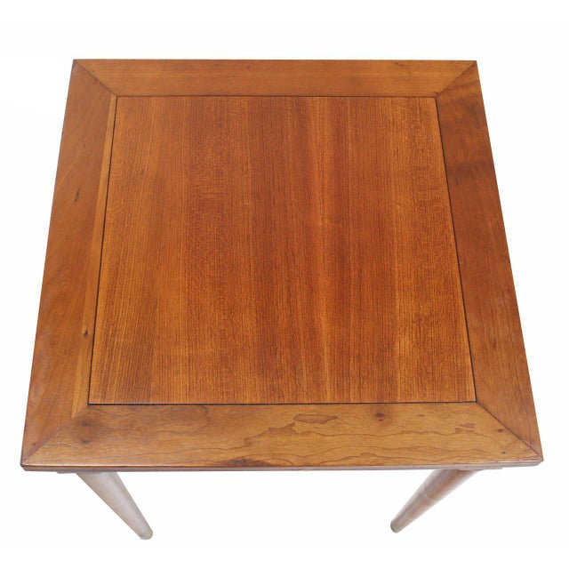 Early 20th Century Set of Three Mid-Century Modern Walnut Nesting Tables For Sale - Image 5 of 6