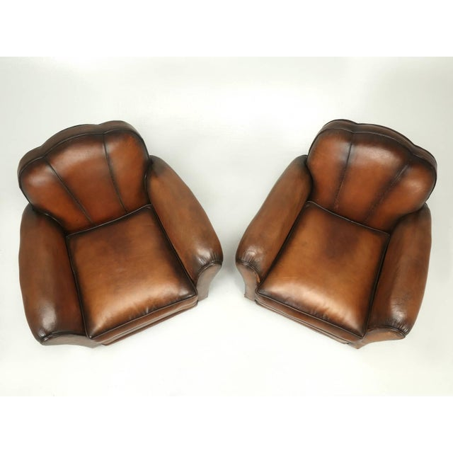 French Art Deco Original Cloud Back Style Club Chairs in Incredible Condition For Sale - Image 10 of 10