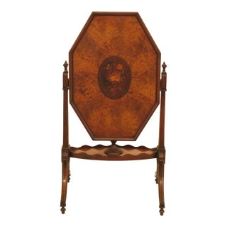 1920s Traditonal Inlaid Satinwood & Walnut Tilt Top Table For Sale