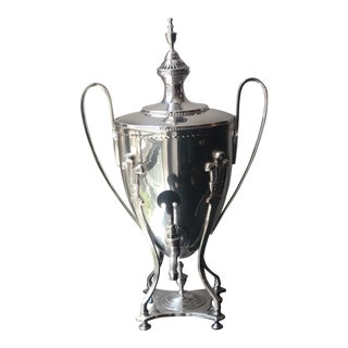 Mottahedeh Silver Plated Prince of Wales Feather Samovar For Sale