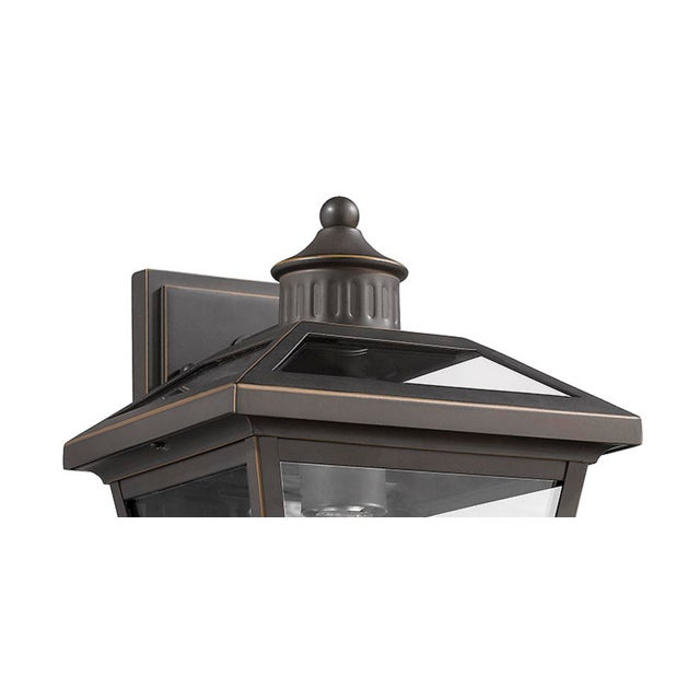 Traditional French Quarter 1 Light Outdoor Wall Sconce, Olde Bronze For Sale - Image 3 of 4