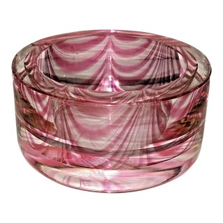 Cenedese Vitri Fenicio Small Pink Murano Bowl For Sale