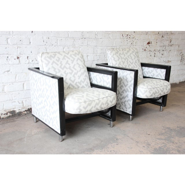 Mid 20th Century Edward Wormley for Dunbar Rocking Lounge Chairs - a Pair For Sale - Image 5 of 10