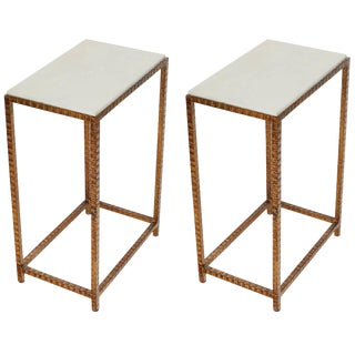 Pair of Shagreen Side Tables For Sale