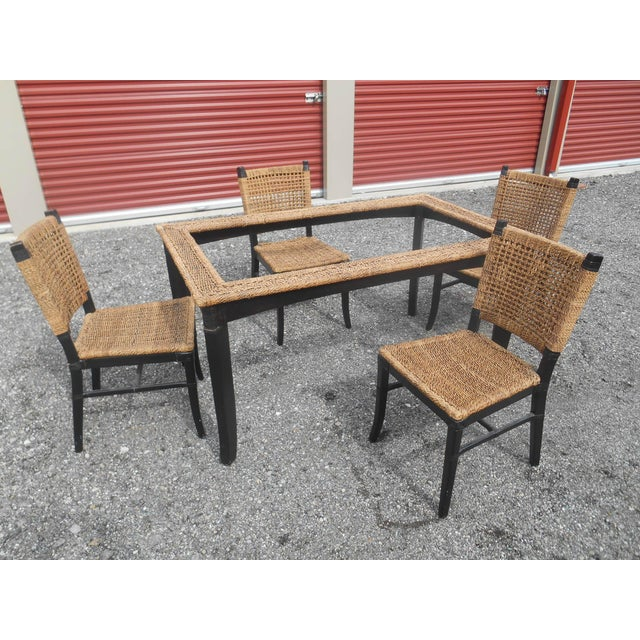 Tommy Bahama Woven Cord Dining Set - 5 Pieces For Sale - Image 4 of 7