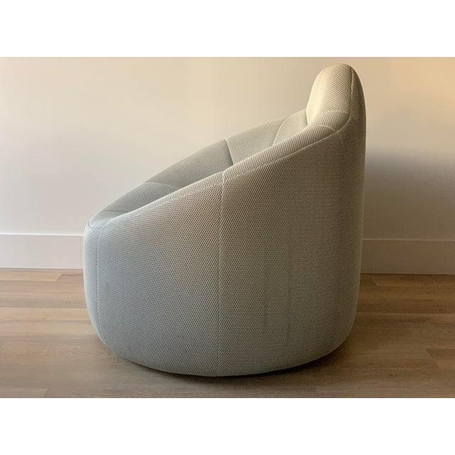 Contemporary Ligne Roset Pumpkin Armchair in Techno Silver by Pierre Paulin For Sale - Image 3 of 9