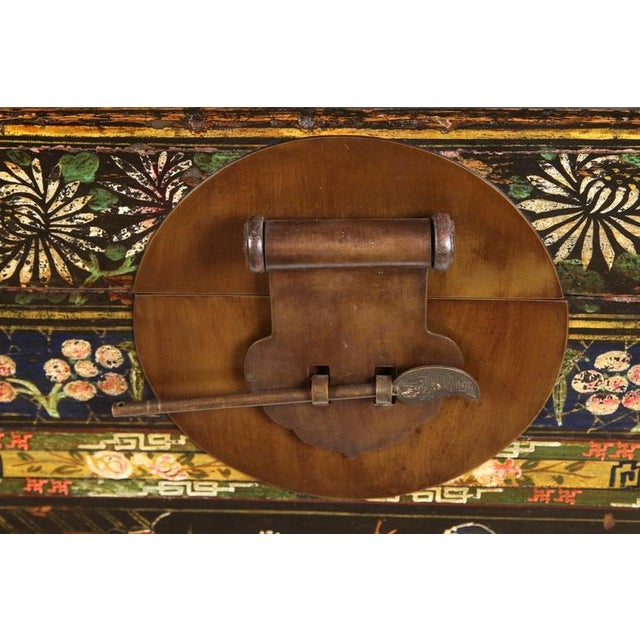 Mid 19th Century 19th Century Chinese Painted Chest For Sale - Image 5 of 9