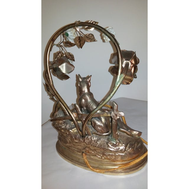 Art Nouveau Parisian Mantle Lamp Lady - Image 3 of 7