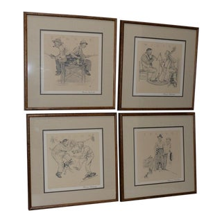 "Norman Rockwell ""Four Seasons Suite"" Pencil Signed / Numbered Lithographs C.1970 For Sale"