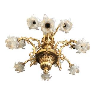 Rococo 18 Karat Gold Gilt Chandelier For Sale