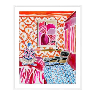 Quiet Moments in a Colorful World by Kate Lewis in White Frame, Medium Art Print For Sale