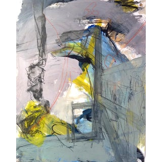 Contemporary Abstract Painting on Paper / Kittery, Maine Working Coastline / Lobster Trap Hoists For Sale