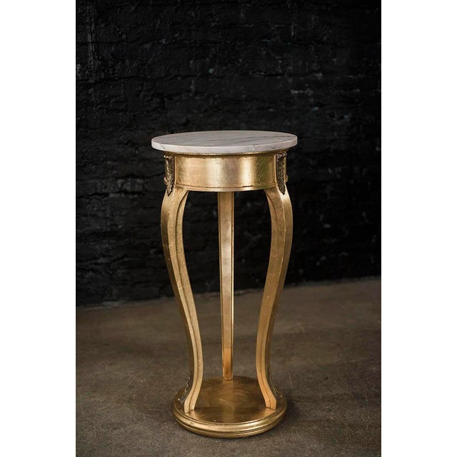 Tall Gilt and Marble Regency Pedestal Stand - Image 6 of 6