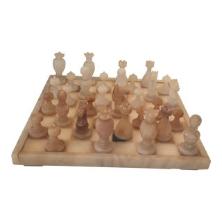 Mid Century Marble Chess Set For Sale