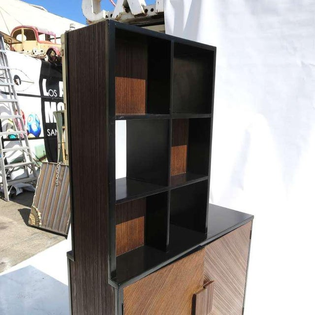 1950s Paul Frankl Stepped Room Divider Cabinet For Sale In Los Angeles - Image 6 of 8