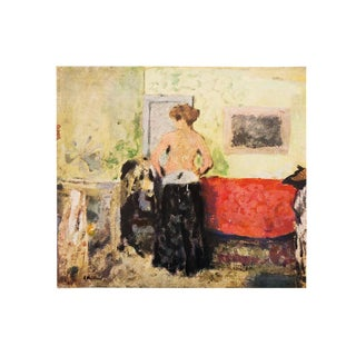 "1940s Edouard Vuillard, ""Woman Undressing"" Vintage Swiss Lithograph For Sale"