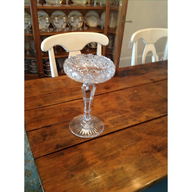 American Brilliant Cut Glass Compote - Image 2 of 6