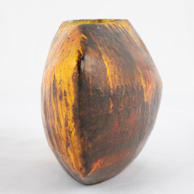 Ceramic 1960s Asymmetrical Marcello Fantoni Vase For Sale - Image 7 of 12