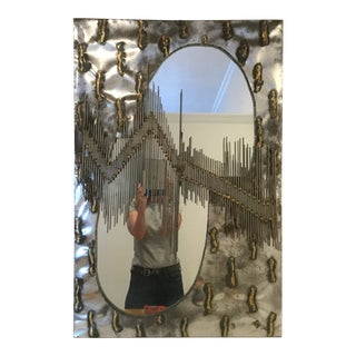 Modern Brutalist Style Mirror For Sale