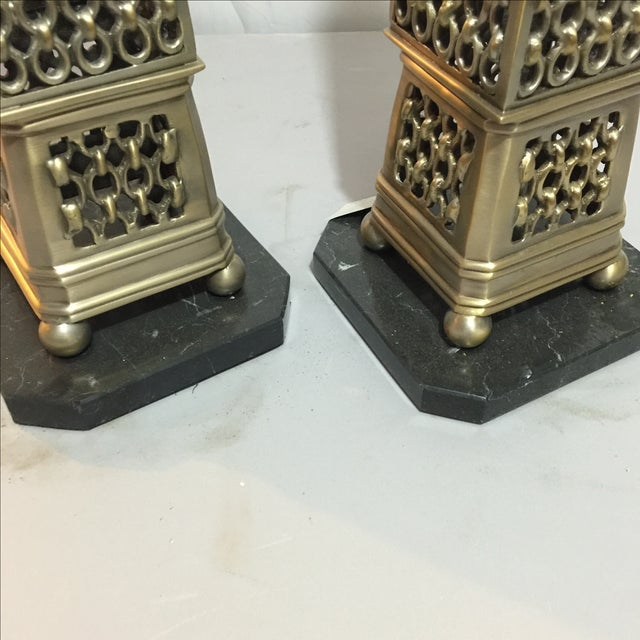 French John Richard Metal Obelisks - A Pair For Sale - Image 3 of 6