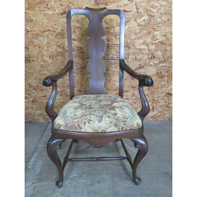 Italian Queen Anne Style Dining Chairs - Set of 6 For Sale - Image 4 of 8