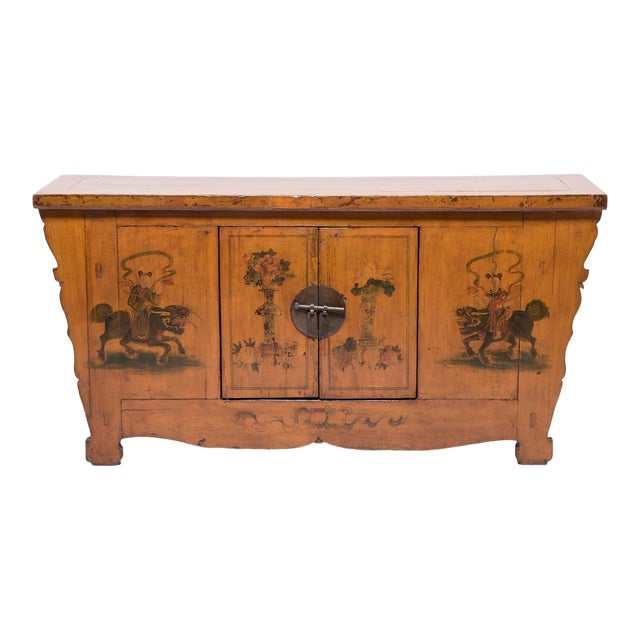 Qilin Painted Coffer For Sale