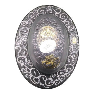 Vintage Sandri Vetro DI Murano Italian Glass Hand Painted Pin Tray For Sale